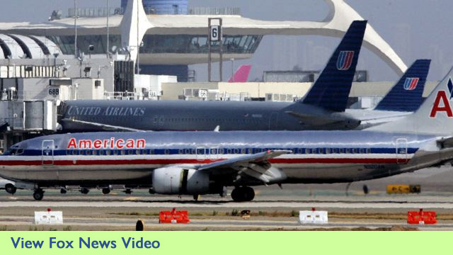 American and United Airlines Jets at Airport - Fox News Video Clip